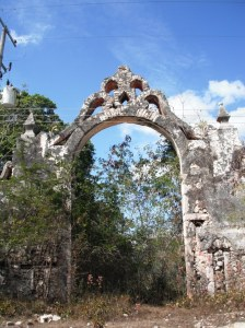 The arch at Hacienda Mucuiche