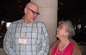 Michael Schuessler with Elena Poniatowska at the 2012 SMWC