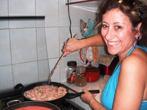 Preparing the Picadillo