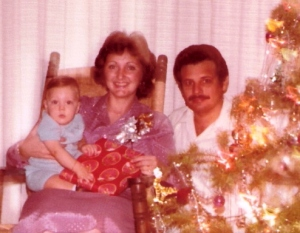 Jorge, Joanna and Carlos: Christmas 1985