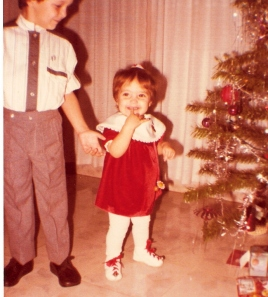Maggie and Carlos on Christmas Day 1985