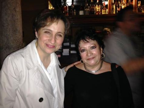 Carmen Aristegui and Olga Moguel at Amaro's 21st Anniversary