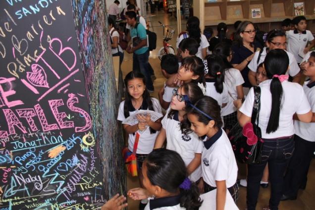 School children participating