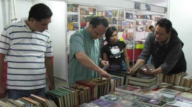 At the publishers' fair
