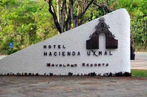 The entrance to the Hotel Hacienda Uxmal