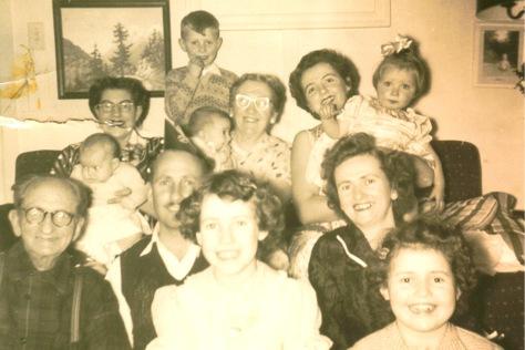 The van der Gracht family in 1954