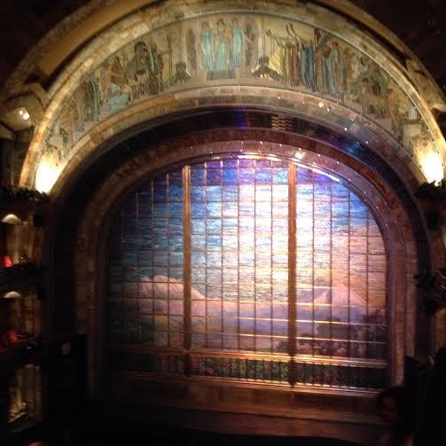 The Tiffany glass curtain