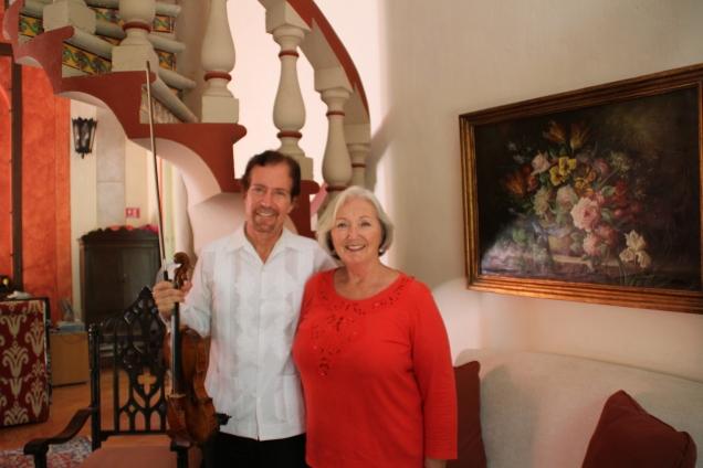 Christopher Collins with me at Hacienda Santa Cruz